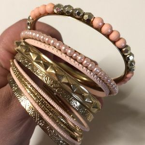 Jewelry - B2G1F Rose and gold bracelets (set of 10)